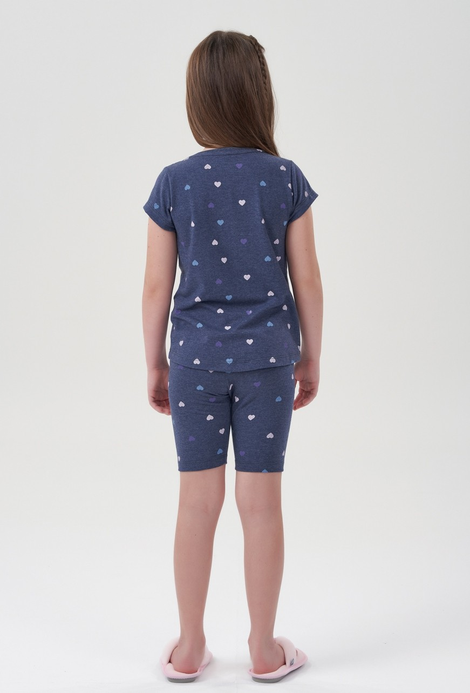 Pijama Bermuda Ciclista Manga Curta Infantil