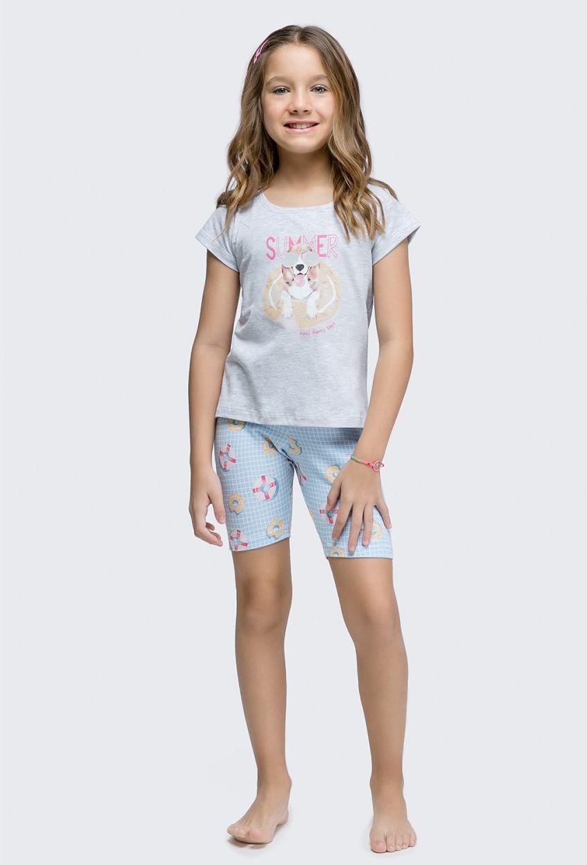 Pijama Bermuda Manga Curta Infantil