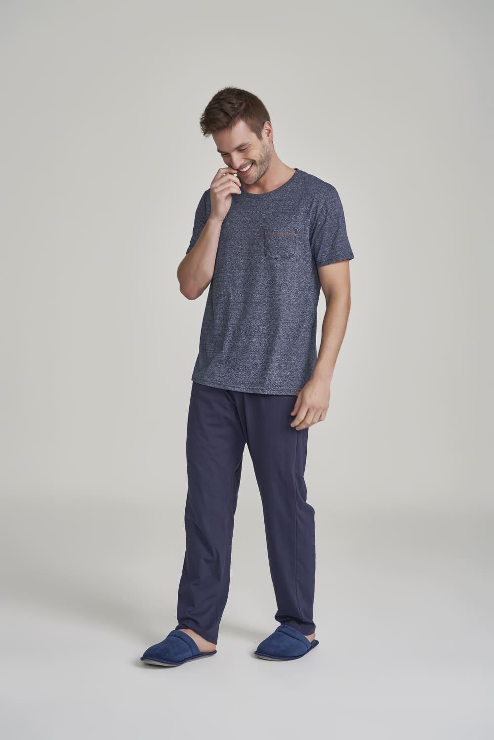 Pijama Calça Manga Curta Masculino