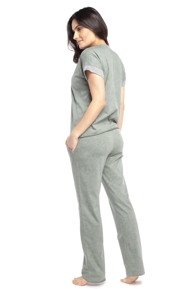 Pijama com Calça e Manga Curta Mint