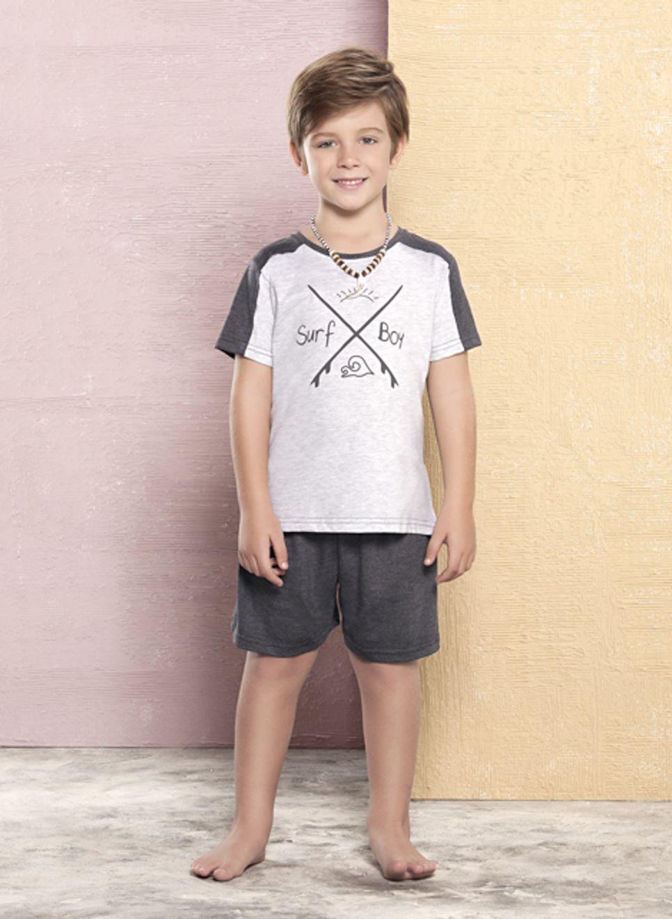 Pijama Curto Infantil Surf Boy