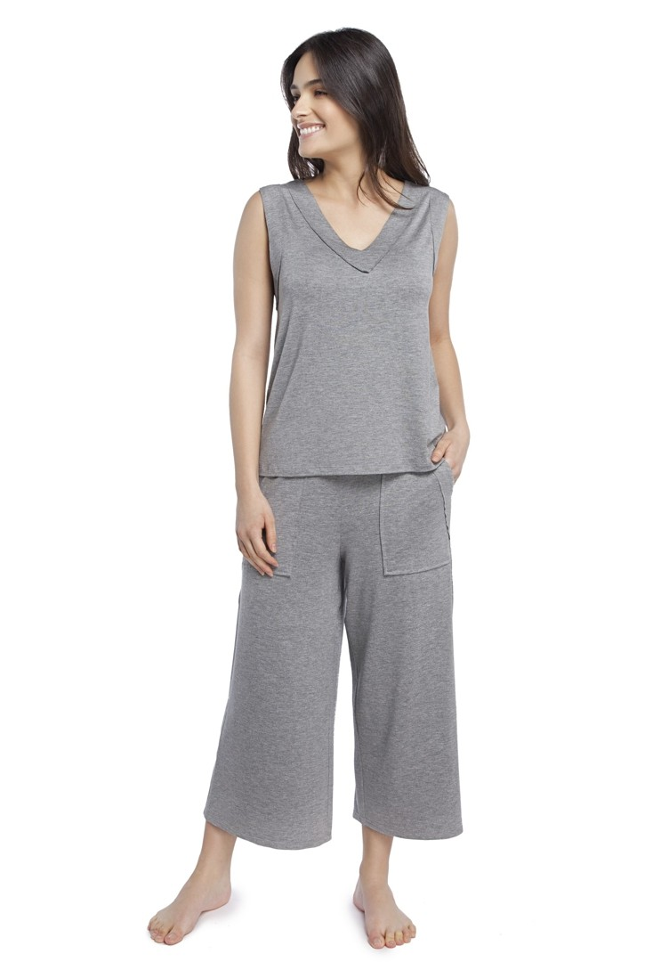 Pijama Feminino Pantacourt com Regata