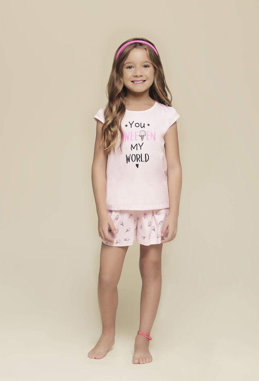 Pijama Infantil Feminino Curto