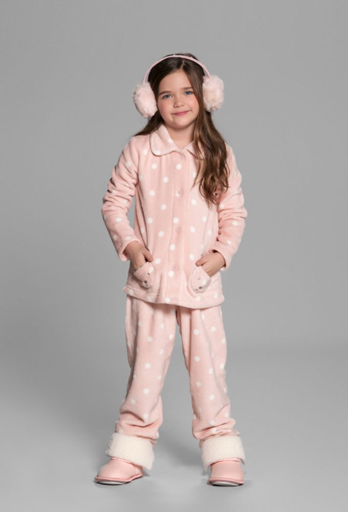 Pijama Infantil Fleece Cute Bear