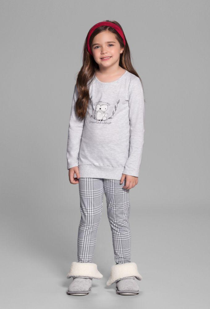 Pijama Infantil Legging Corujinha