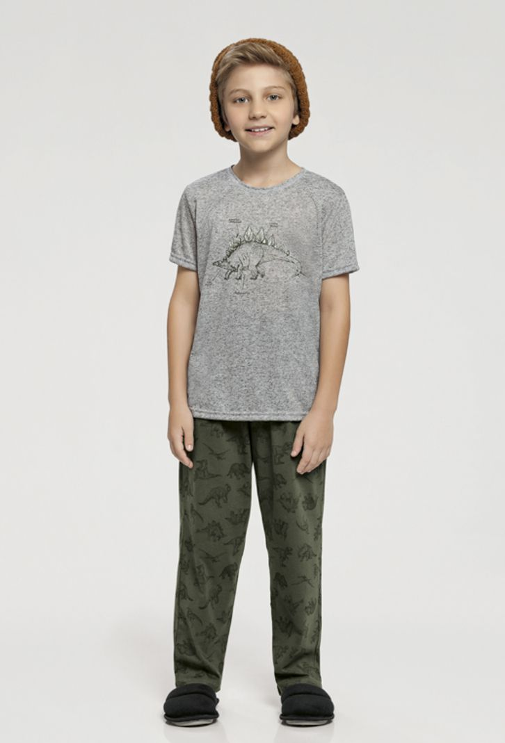 Pijama Infantil Manga Curta e Calça