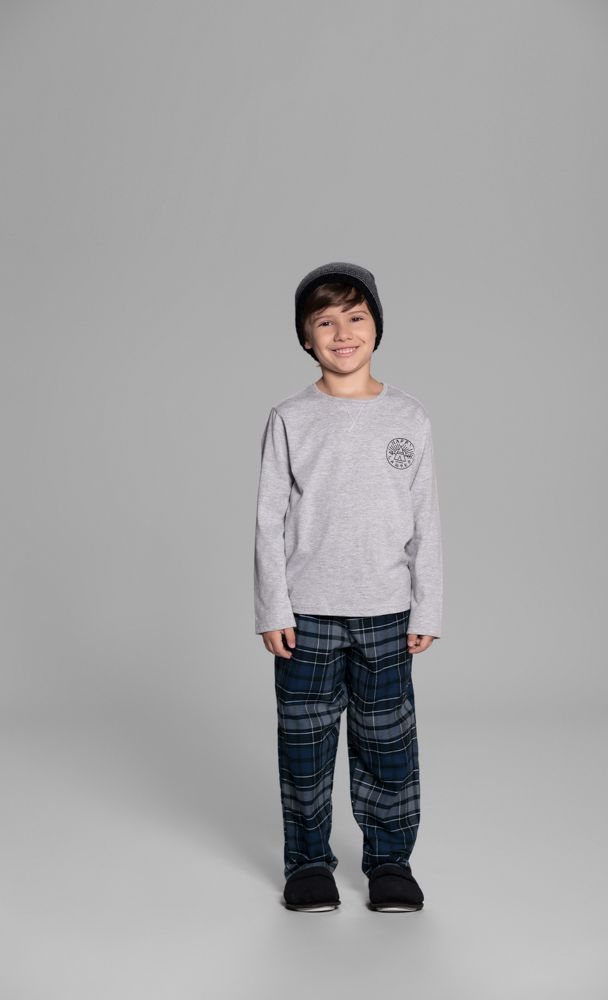Pijama Infantil Manga Longa Mescla