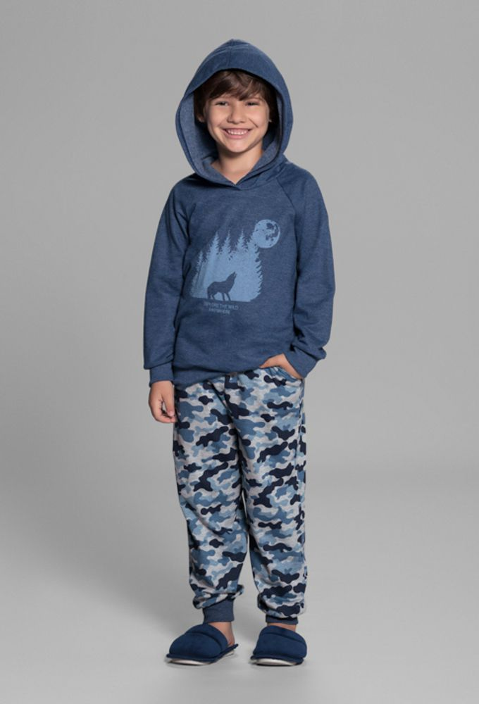 Pijama Infantil Moletinho Camuflado