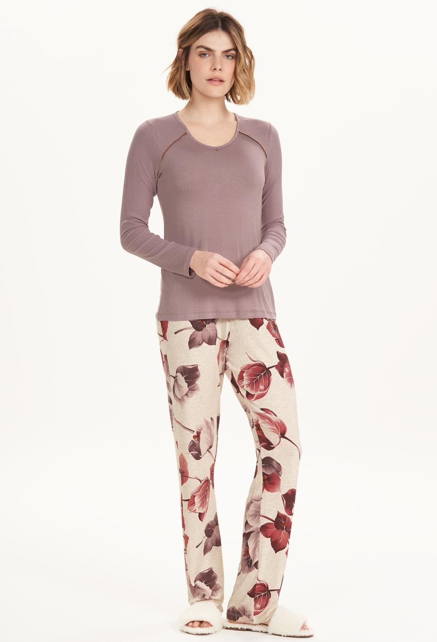 Pijama Longo Feminino Florata