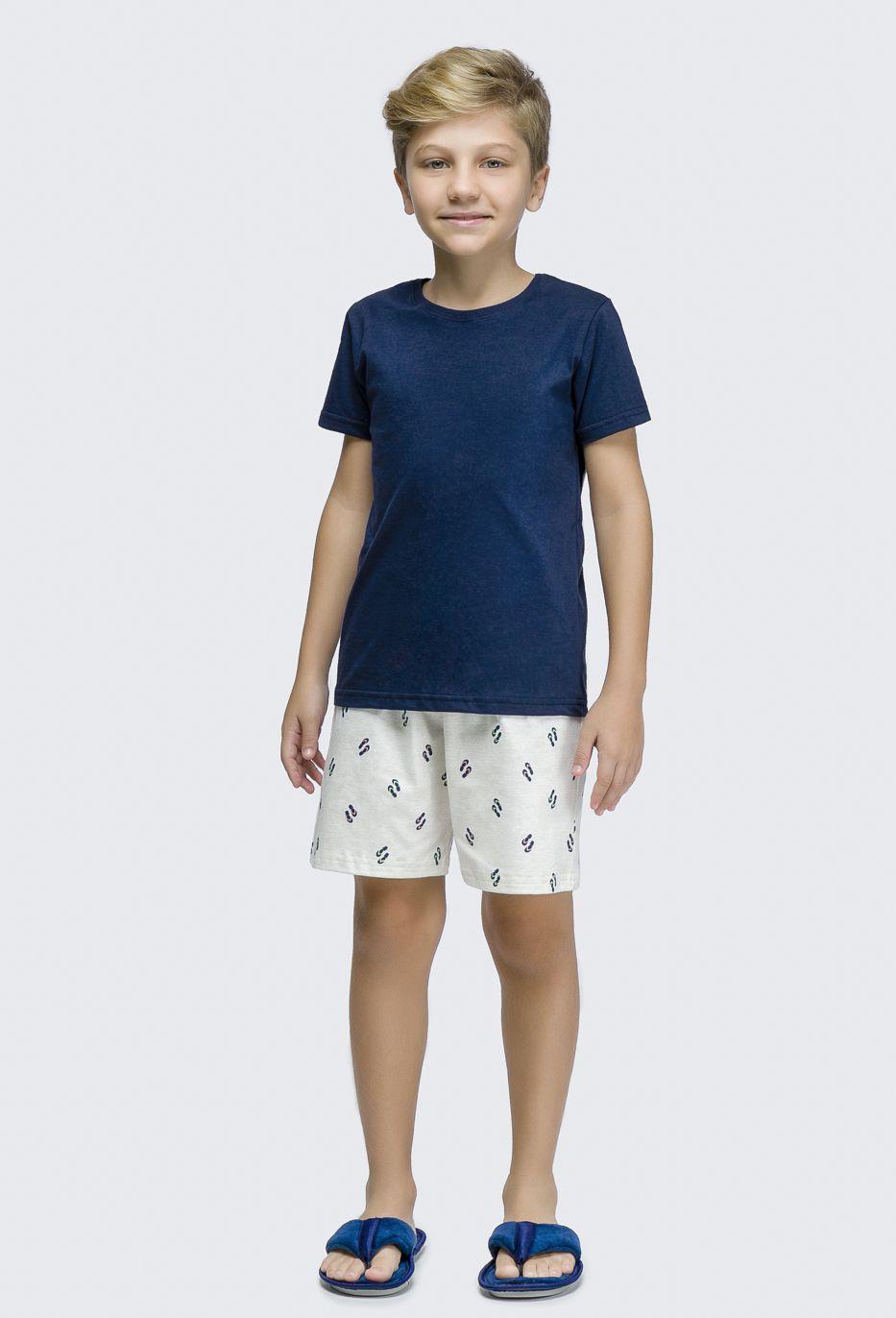 Pijama Manga Curta Infantil Menino