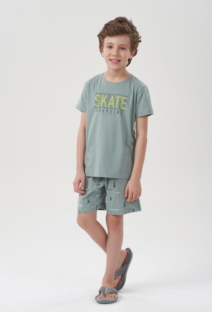 Pijama Manga Curta Skate Menino