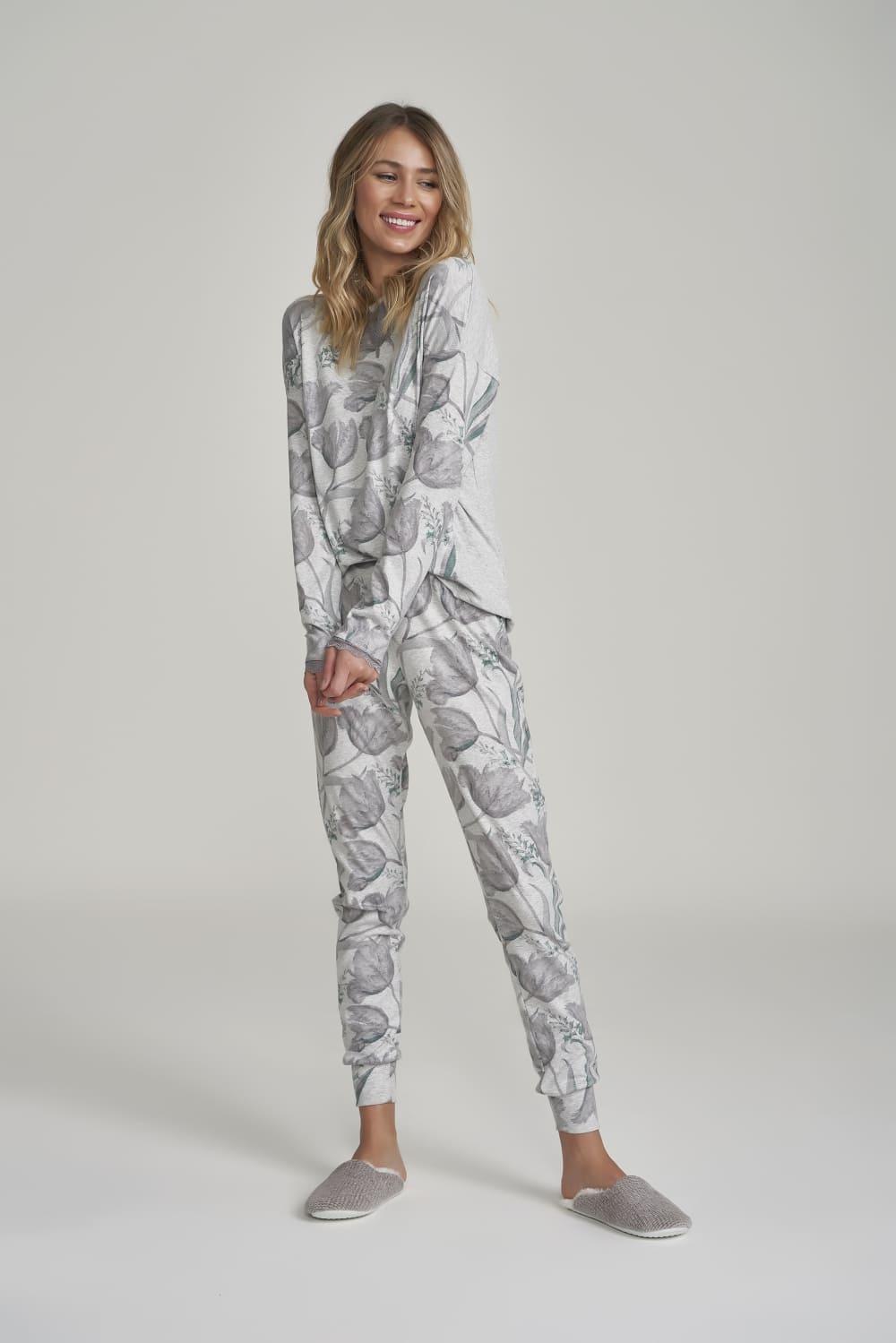 Pijama Manga Longa Feminino