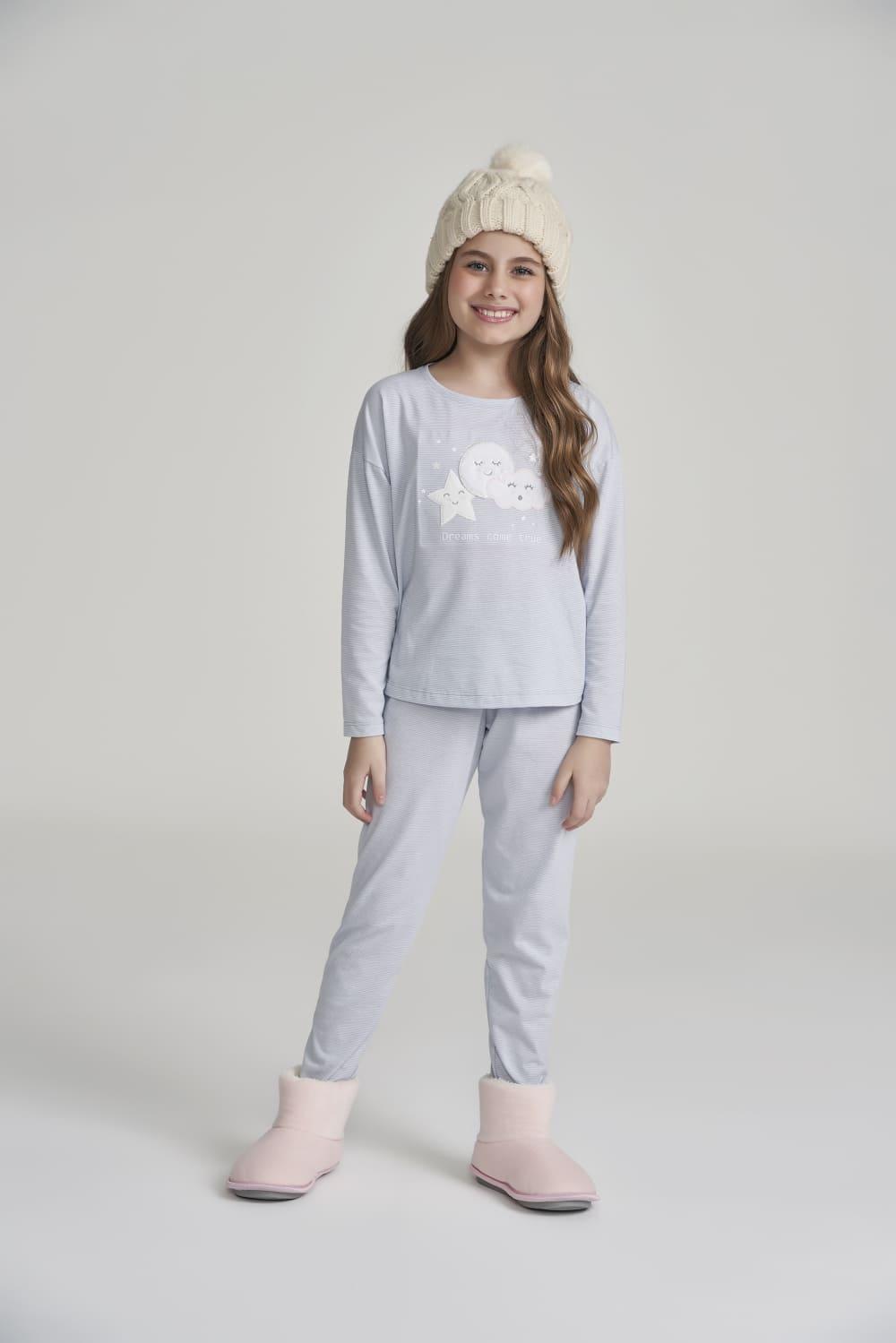 Pijama Manga Longa Infantil Dreams