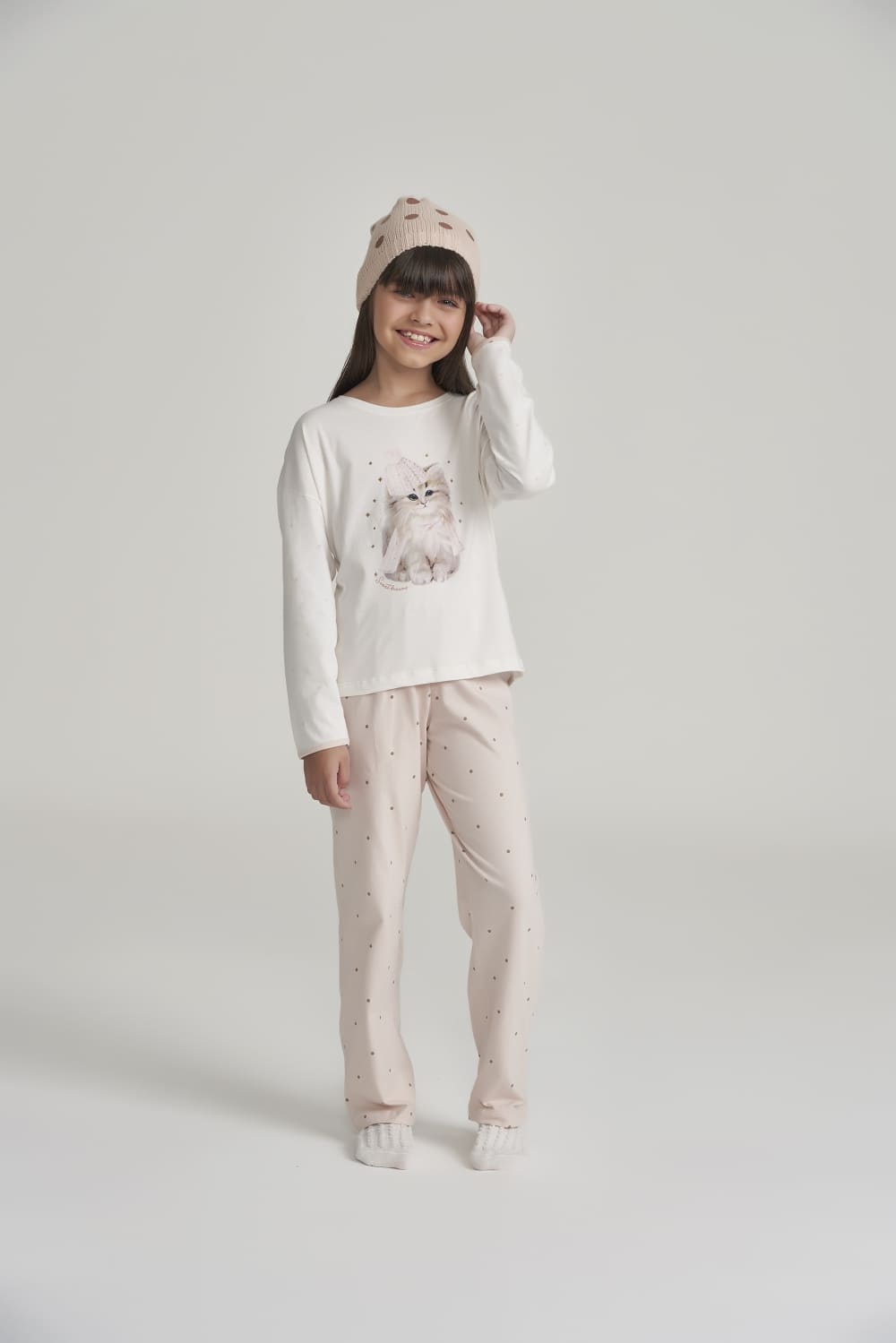 Pijama Manga Longa Infantil Menina