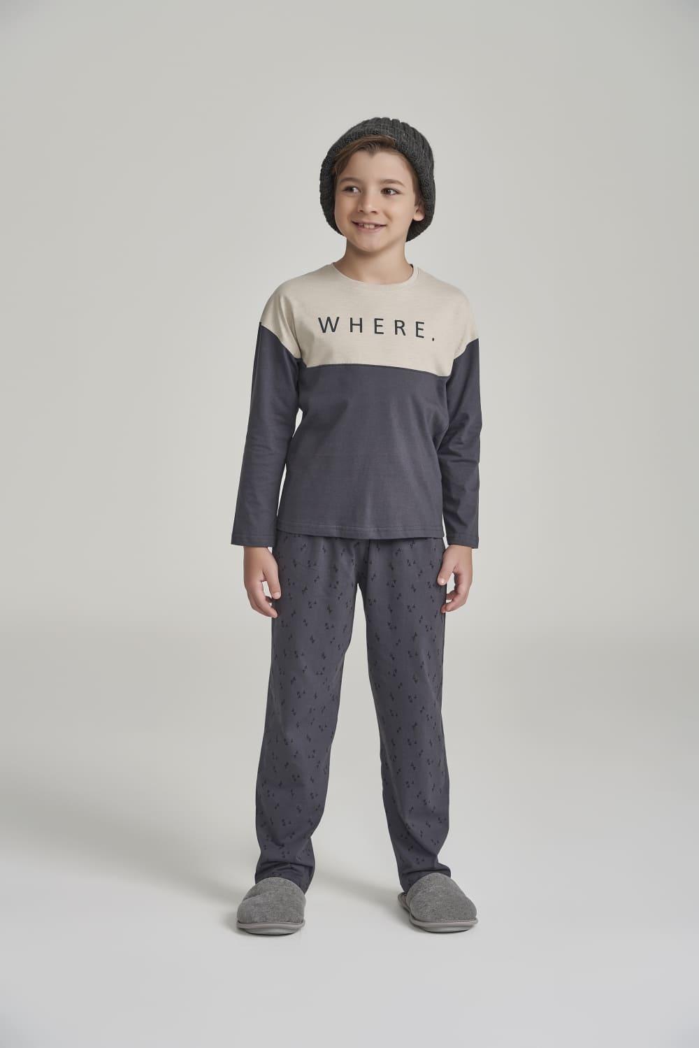 Pijama Manga Longa Infantil Where