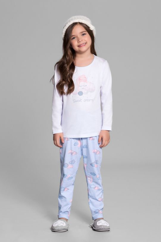 Pijama Manga Longa Nuvens
