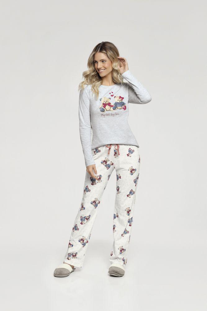 Pijama Manga Longa Ursinho