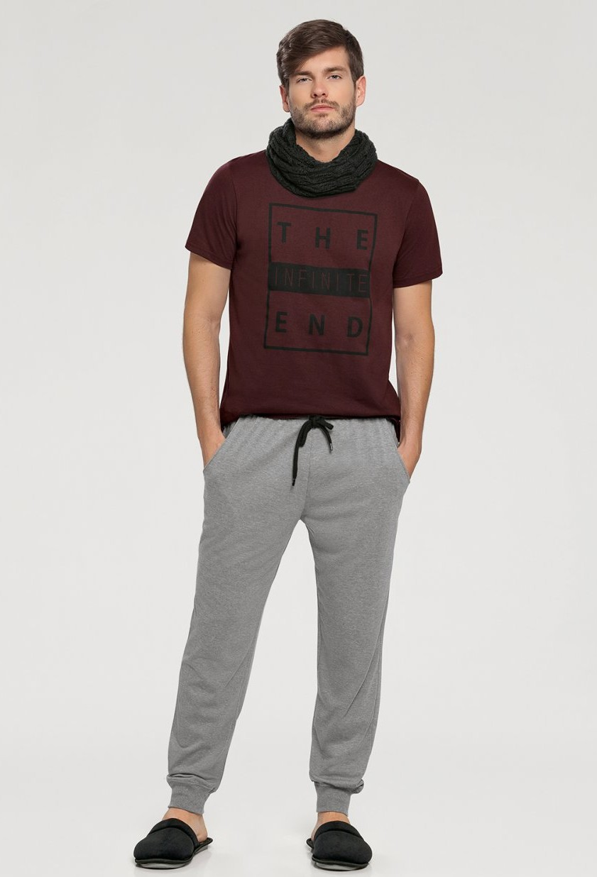Pijama Masculino Calça Manga Curta