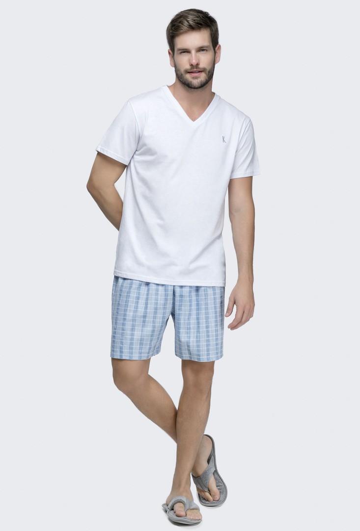 Pijama Masculino Manga Curta