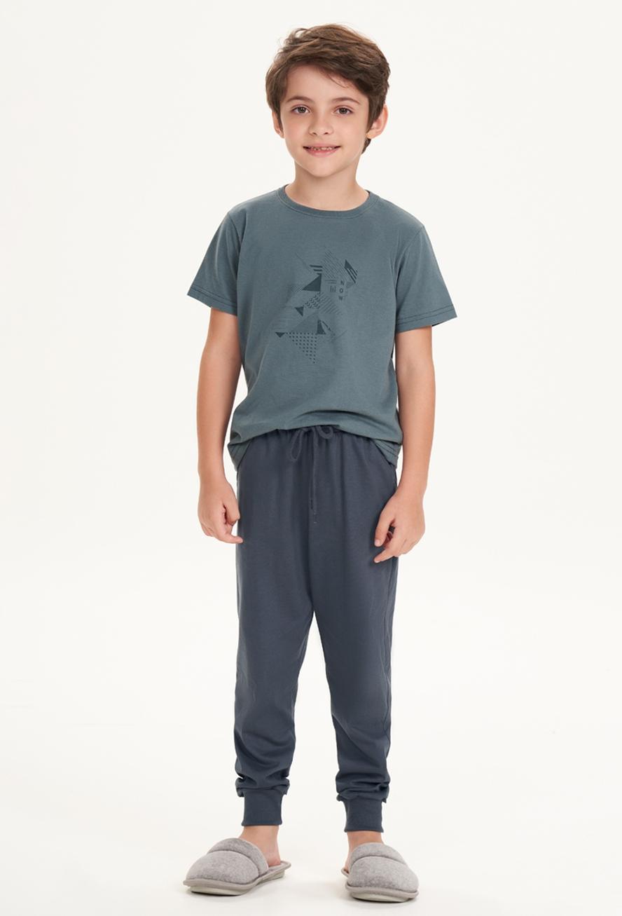 Pijama Menino Calça e Manga Curta