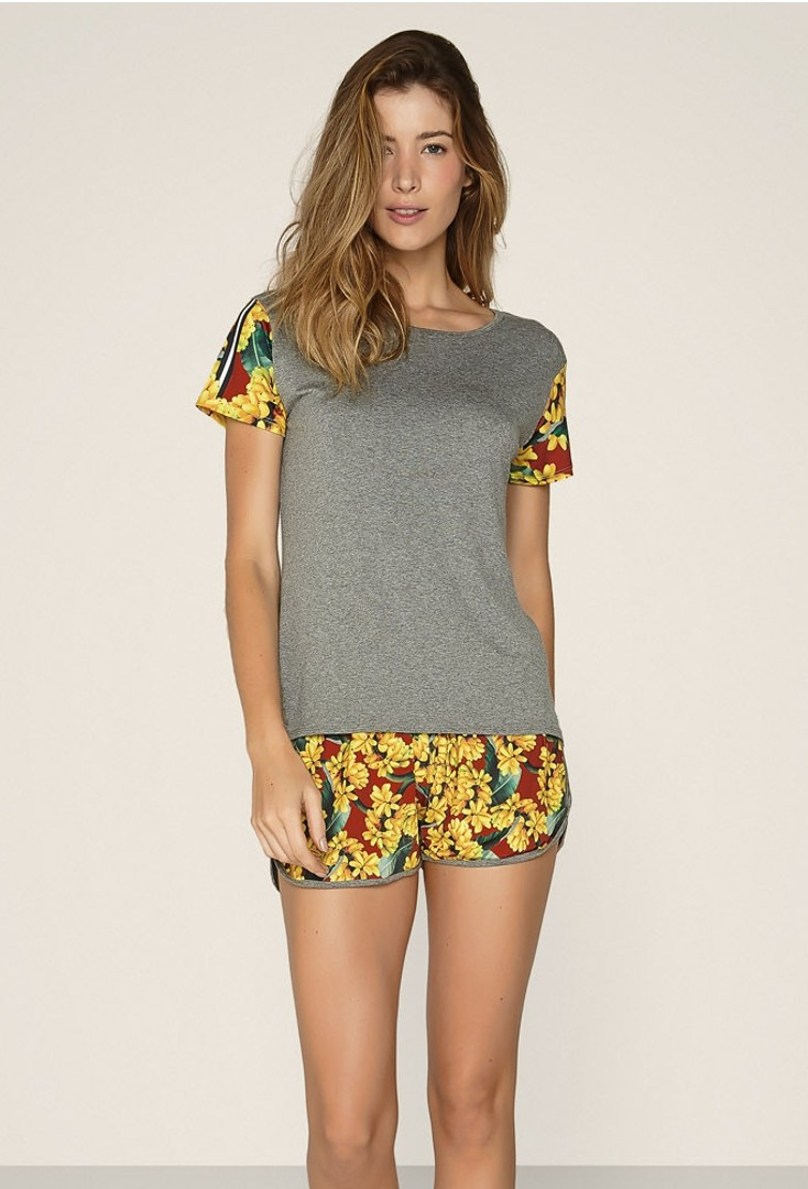 Pijama Short Doll Tropical Side
