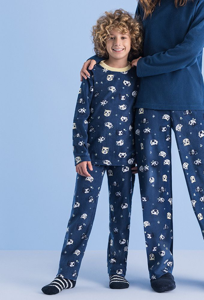 Pijama Soft Infantil Cats