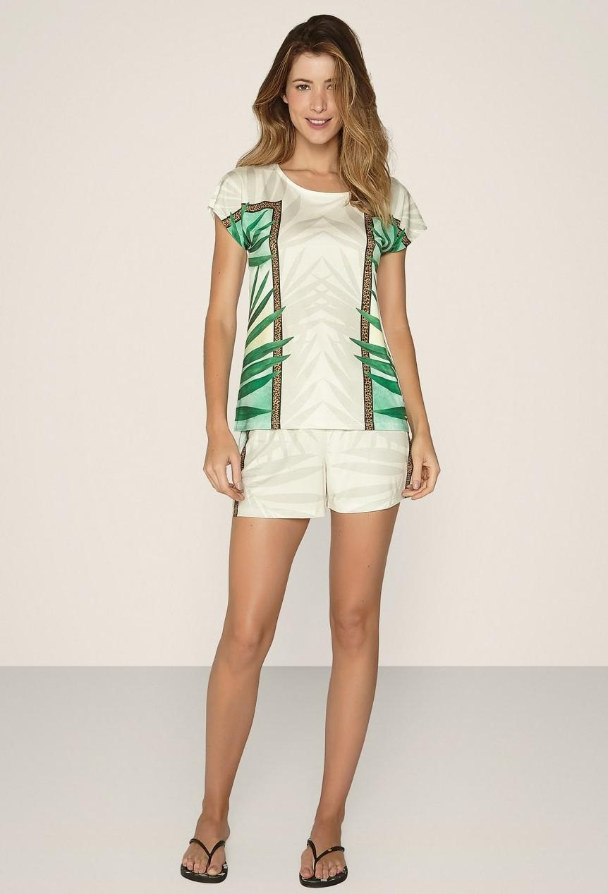 Pijama Under The Palms Curto