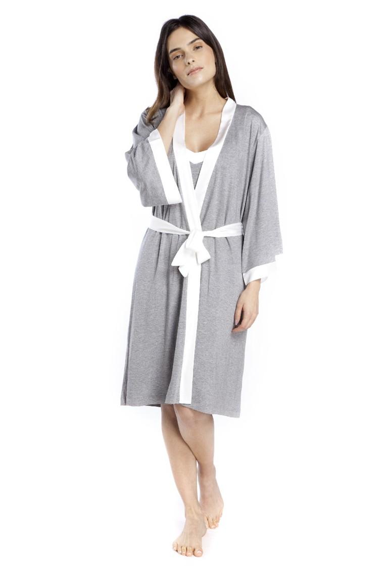 Robe Midi e Cetim Off White