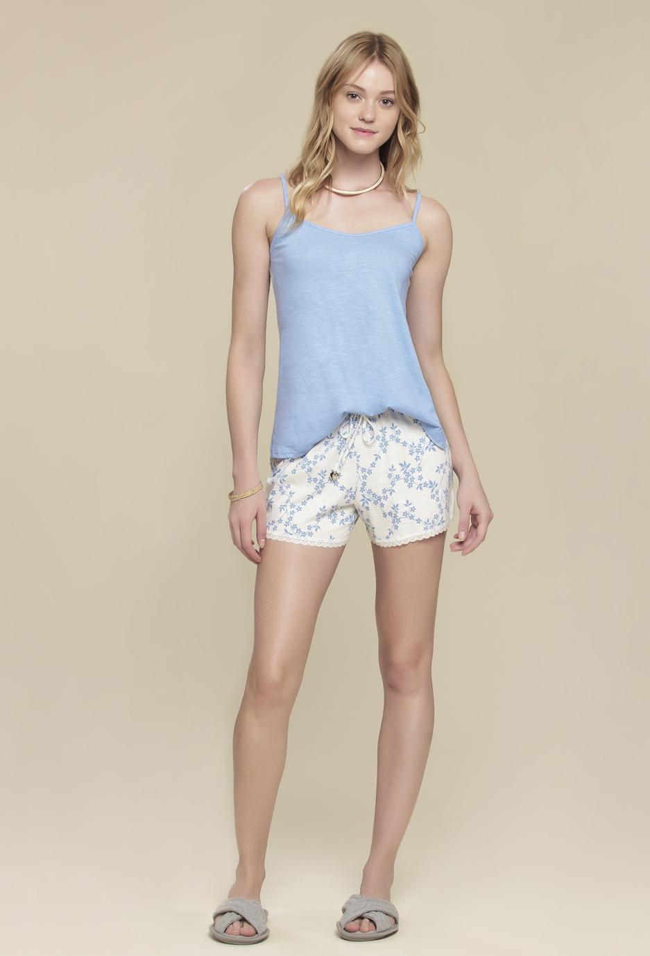 Short Doll Floral Blue