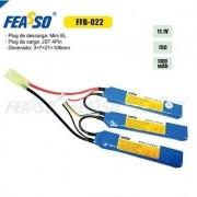Bateria Lipo - 11.1V/3S (3 Pack) - 1300mAh - 15C - FFB-022 - Feasso