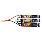 Bateria Lipo - 11.1V/3S (3 packs) - 1100mAh - 20C - QGK