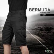 Bermuda Tática Poly 6 Bolsos SAFO - Preto