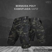 Bermuda Tática Poly RipStop 6 Bolsos SAFO - Multicam Black