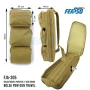 Bolsa PDW Gun Travel Feasso FJA-205 - TAN