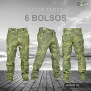 Calça Tática Cargo RipStop 6 Bolsos SAFO - ATACS FG