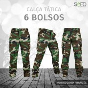 Calça Tática Cargo RipStop 6 Bolsos SAFO - Woodland
