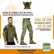 Camisa de Combate + Calça Tática - SAFO - Multicam