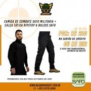 Camisa de Combate + Calça Tática - SAFO - Preto
