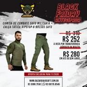 Camisa de Combate + Calça Tática - SAFO - Verde Oliva