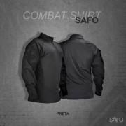 Camisa de Combate Safo Militaria - Preto