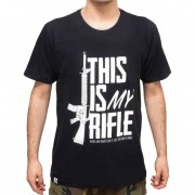 Camiseta Evo Tactical My Rifle - Preta