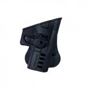 Coldre com Trava para Pistola Taurus TS9 Só Coldres - Preto