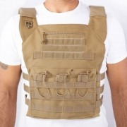 Colete Plate Carrier Gladiador BR Force - Coyote