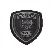 Emborrachado BRASÃO PCPB Preto e Cinza - Elite