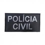 Emborrachado COSTA POLICIA CIVIL Preto e Cinza - Elite