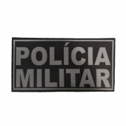 Emborrachado COSTA POLICIA MILITAR Preto e Cinza