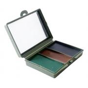 Kit de Camuflagem Facial com Espelho Verde/Marrom/Preto - Bélica