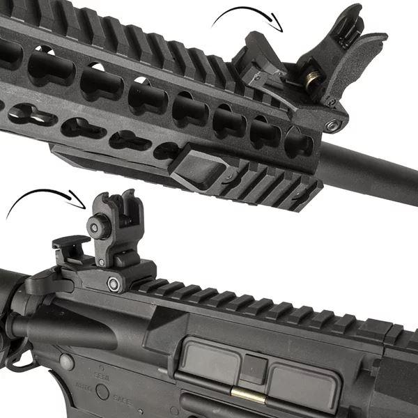 "Airsoft Rifle Elétrico AEG AR15 Neptune Keymode 10"" - Rossi"