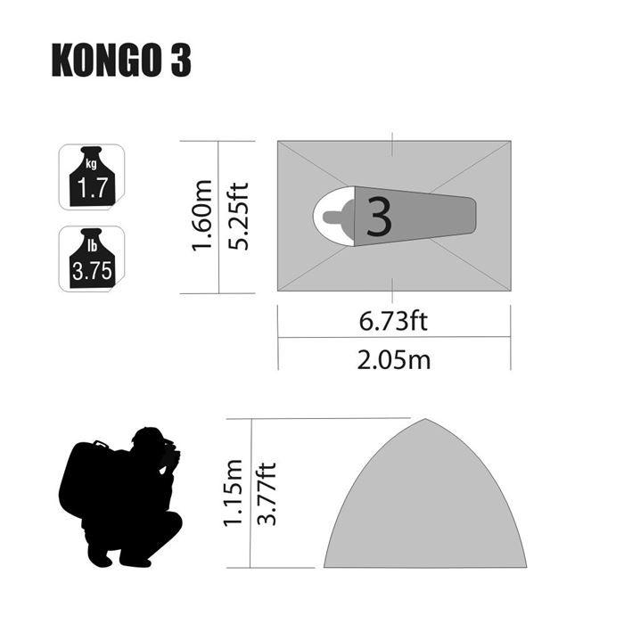 Barraca Kongo NTK - 3 Pessoas