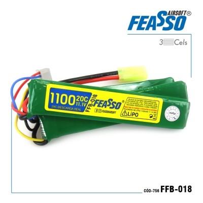 Bateria Lipo - 11.1V/3S (3 Pack) - 1100mAh - 20C - FFB-018 - Feasso